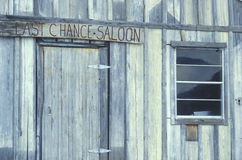 Entrance to Last Chance Saloon in ghost town in CO Stock Photography
