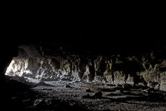 Entrance To Lave Tube Cave From Inside Royalty Free Stock Photography