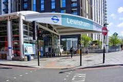 Entrance to Lewisham DLR Station royalty free stock photos
