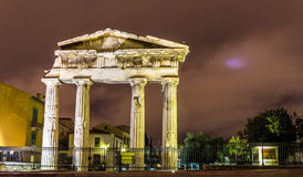 Entrance to the Library of Hadrian in Athens Stock Photo