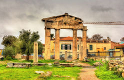 Entrance to the Library of Hadrian in Athens Royalty Free Stock Photo