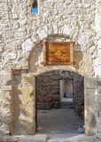 Entrance to the living area of Convent Surb Khach in Crimea. Royalty Free Stock Image