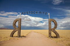 Entrance to a lodge in Namibia Stock Photography