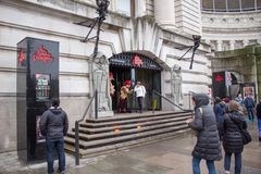 Entrance to london dungeon museum Stock Photo
