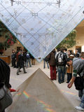 Entrance to Louvre Stock Photography
