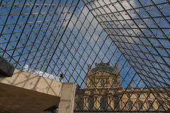 Entrance to the Louvre. The photo shows the entrance to the Louvre in Paris Stock Photography