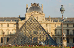 Entrance to the Louvre Museum in Paris Stock Images