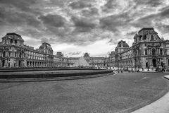 Entrance to the Louvre Museum Paris France September 2017 stock photography