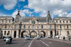 Entrance to the Louvre museum Stock Photos