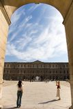 Entrance to Louvre Paris Stock Photos