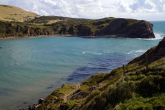 Entrance to Lulworth Cove Dorset England Stock Photo
