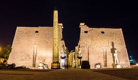 Entrance to the Luxor temple Stock Photos