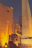 The entrance to the Luxor Temple at night (Egypt) Royalty Free Stock Photography