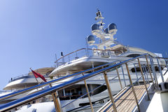 Entrance to a luxury yacht Stock Photos