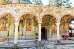Entrance to the main church of the Troyan Monastery in Bulgaria Royalty Free Stock Photos