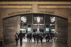 Entrance to Main Concourse of Grand Central Terminal with people Stock Photography