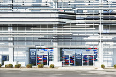 Entrance to the main grandstand  of autodrom in Sochi for Formula-1 Royalty Free Stock Images