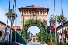 Entrance to the Main Quad at Stanford University; Stock Photo