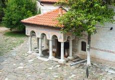 Entrance to the main temple monastery Bachkovski royalty free stock photography