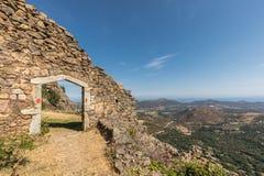 Entrance to maison du bandit near Feliceto in Corsica Royalty Free Stock Image