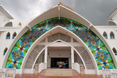 Entrance to Malacca Straits Mosque Royalty Free Stock Image