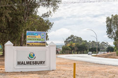 Entrance to Malmesbury. MALMESBURY, SOUTH AFRICA - MARCH 31, 2017: The entrance to Malmesbury, a town in the Swartland area of the Western Cape Province Royalty Free Stock Image