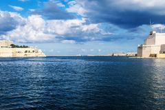 Entrance to the Malta Grand Harbour stock image