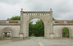Entrance to the Marienborg Royalty Free Stock Photo