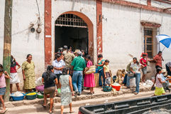 Entrance to Market in Copan Stock Photo