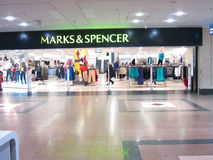 Marks and Spencer store entrance. Stock Images