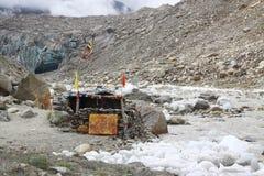 Entrance to Matrix. Goumukh Glacier the source of Holi Ganga stock images