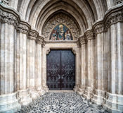 Entrance to the Matthias Church Stock Image