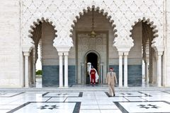 Guards in front of Mausoleum Mohammed V, Rabat, Morocco Royalty Free Stock Images