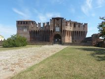The entrance to the medieval castle of Soncino - Cremona - Italy. View of the medieval castle of Soncino in the province of Cremona - Italy Stock Photography