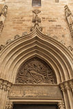 Entrance to the medieval church Royalty Free Stock Image