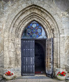 Entrance to the medieval church Royalty Free Stock Photography