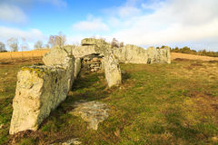 Entrance to a megalith grave Royalty Free Stock Photo