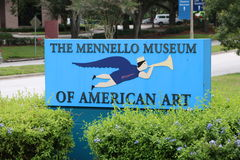 The entrance to the Mennello Museum of American Art stock images