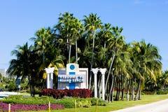Entrance to Miami Beach stock photography