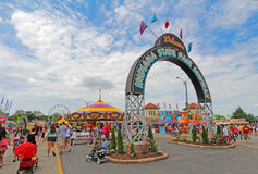 Entrance to the Midway at the Indiana State Fair Stock Photography