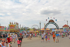 Entrance to the Midway at the Indiana State Fair Royalty Free Stock Images