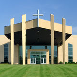 Entrance to modern church Royalty Free Stock Images