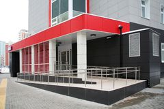 The entrance to the clinic. The entrance to a modern clinic Stock Photo