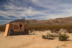 Entrance to the Mojave National Preserve Royalty Free Stock Photography