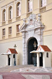 Entrance to Monaco-Palace. Houses located up the hill where Monaco-Castle is Stock Photo