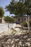 Entrance to Monastery at Aptera, Crete Stock Photos
