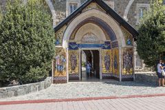 Entrance to Monastery in Cyprus Royalty Free Stock Photos