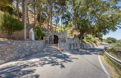 Entrance to the monastery Kremaston, Crete, Greece. Entrance to the monastery of Saints Michael and Gabriel - Kremaston Kremasti, Kremasta Crete, Greece. The stock photo
