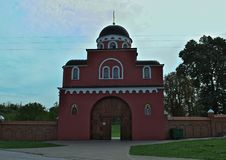 Entrance to monastery Krusedol, Serbia Stock Images