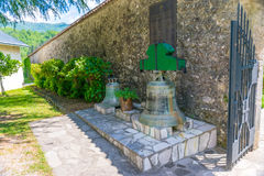 At the entrance to the monastery of Morocha there are ancient bells. Montenegro Stock Images